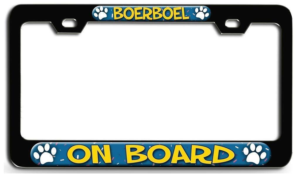 Dog Lovers License Plate Holder Auto Accessory for US Standard AllCustom4U Auto Car License Plate Frame Tag Stainless Steel