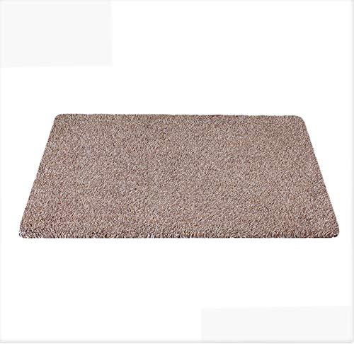 KedsHome Indoor Super Absorbent Doormat Non Slip Rubber Backing Door Mat for Front & Back Doors Dirt Trapper Mat Cotton Microfiber 18 x 30 Shoe Scraper Machine Washable. Mud Dirt less Visible in Brown