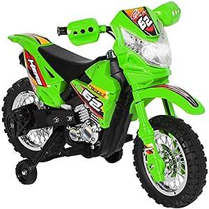 6V Electric Kids Ride On Motorcycle Dirt Bike W/ Training Wheels