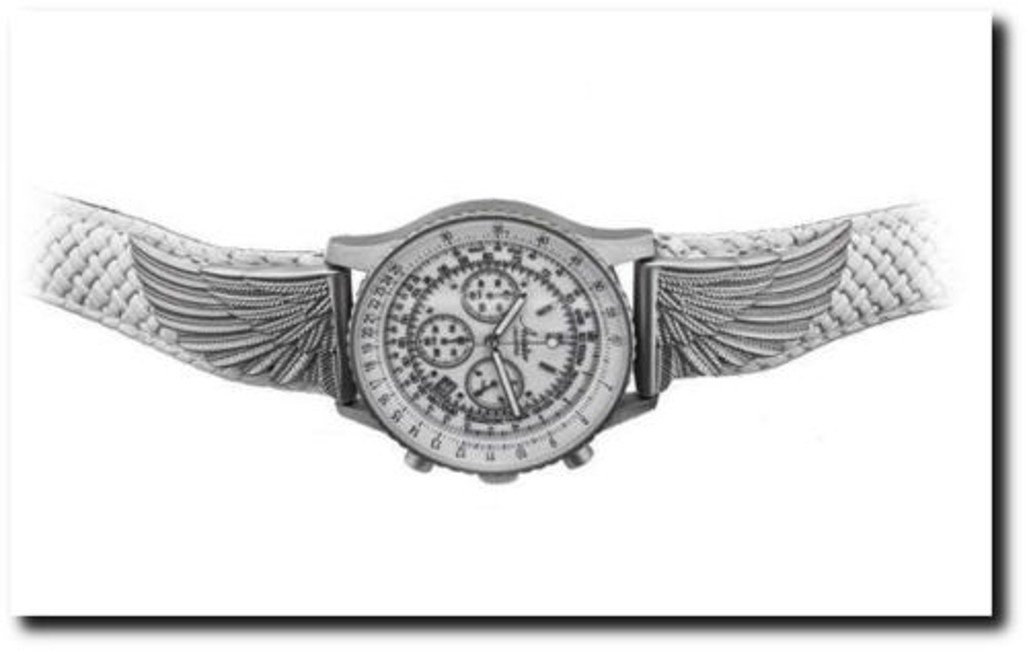 Aviator Unlimited ''Nimbus'' Woman's Pilot Chronograph Watch w/ Winged Accents