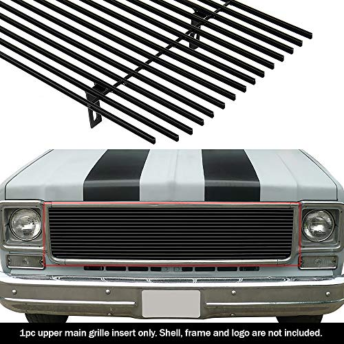 APS Compatible with 1973-1980 Chevy GMC Blazer/C/K Pickup/Suburban Black Billet Grille Grill Insert #N19-H80058C