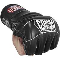 Luvas MMA Combat Sports estilo profissional, juvenil, grande, preta