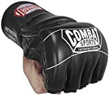 Ringside Combat Sports Pro Style MMA Gloves, Black, Youth Large