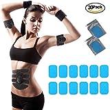 交換パッド 20枚セットA-free 腹筋ベルト ゲルパッド 腕筋 トレーニング ダイエット シェイプ 脂肪燃焼 互換パッド