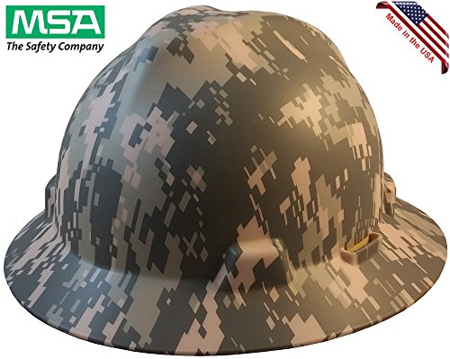 MSA Freedom Series Full Brim Hard Hats with Staz On Suspension and Hard Hat Tote - American ACU Camo by Texas America Safety Company