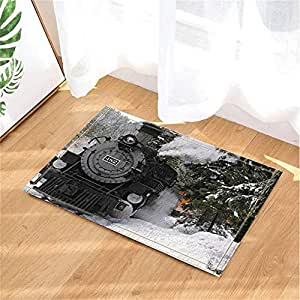 Amazon Com Black Thomas Train Bath Rugs Non Slip Doormat