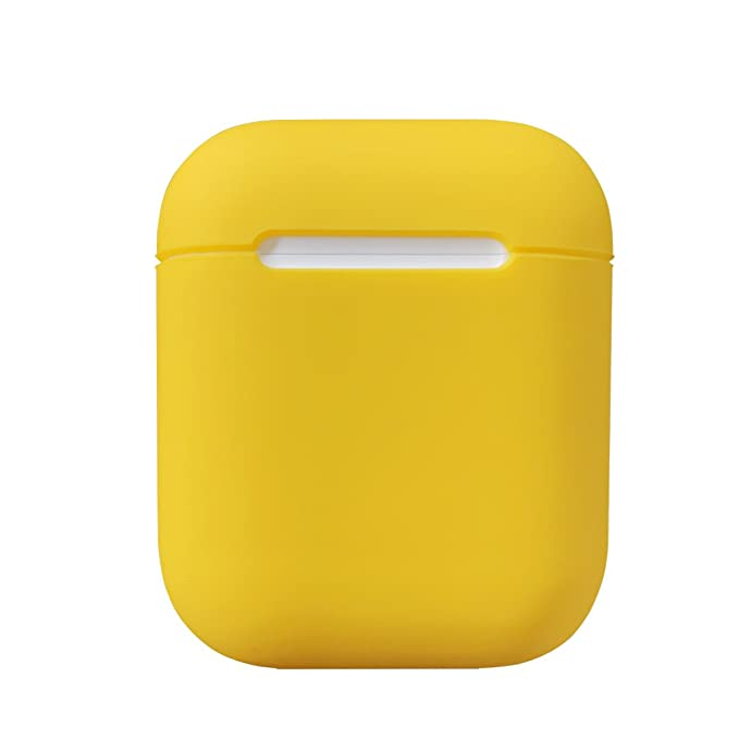 Damon Light Airpods Funda Protectora de Silicona y Piel para Apple Airpods Funda de Carga