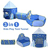 Yuhebaby Play Tent for Kids,Rocket Ship Pop Up Tent With Tunnel and Ball