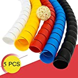 Dog and Cat Cord Protector 32.8ft Wire Protector Sleeve Covers for Cord Protects Your Pets from Chewing Through Insulated Cables 5 PCS/Pack 32.8ft in Total 10mm Width by FUNZON