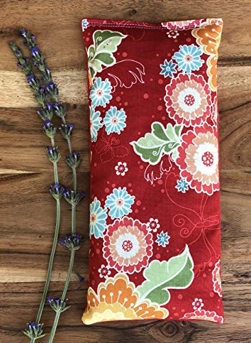 Microwave Heating Pad with Flax Seed and Dried Lavender by Whiffy Bean Bags