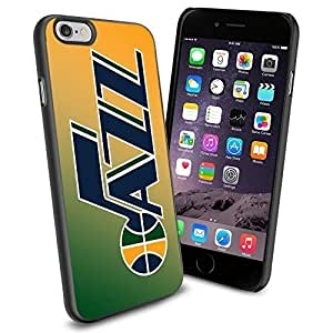 MLB Utah Jazz Baseball, Cool iPhone 6 Smartphone Case Cover Collector iPhone TPU Rubber Case Black