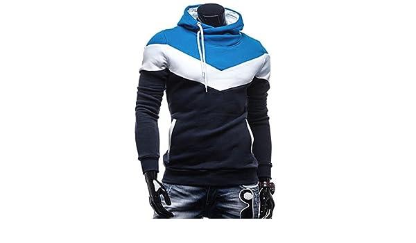 Sonjer Fashion Autumn Winter Men Hoodie Sweatshirt Long Sleeve Tops Shirt Sweatshirts Pullover Sweatshirt Male Coats Outerwear Shirt Navy XXXL at Amazon ...