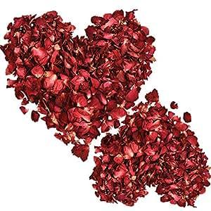 200 Gramos de Pétalos Rojos Pétalos de Rosa Secos Flores de ...
