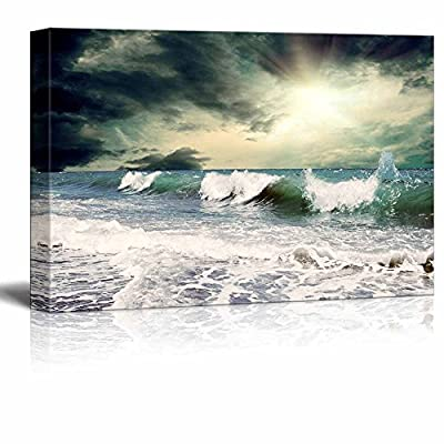 Canvas Prints Wall Art - Beautiful View of Seascape| Modern Home Deoration/Wall Art Giclee Printing Wrapped Canvas Art Ready to Hang - 16