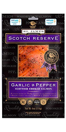 (SCOTTISH RESERVE SMOKED SALMON WITH GARLIC & PEPPER 8 oz)