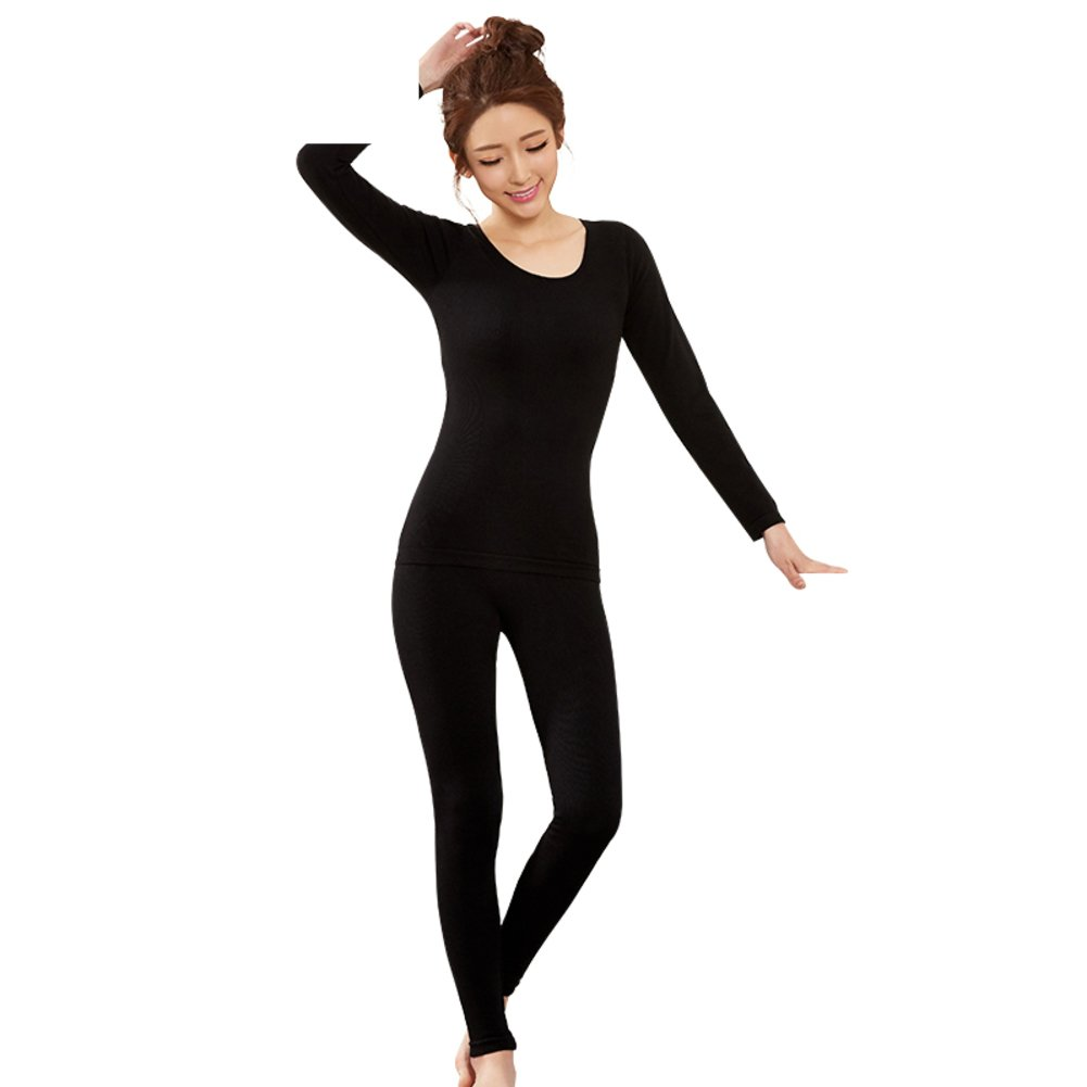 Ms thick warm clothing/Round neck close-fitting plastic warm clothing/ body dressing/ fall clothing long Johns suit-C One Size by Bottoms