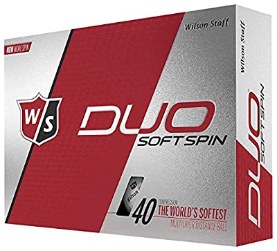 Grips4less Wilson Staff Duo Soft Spin Golf Balls (Choose Qty) Pack