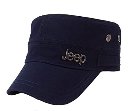 7d21db23525c8 Jeep Tactical Cadet Hats Military Caps Twill Army Corps Cap Flat Top Cap  Baseball Hat at Amazon Men s Clothing store