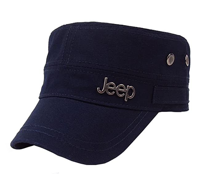 25b512a7ea1 Jeep Tactical Cadet Hats Military Caps Twill Army Corps Cap Flat Top Cap  Baseball Hat at Amazon Men s Clothing store