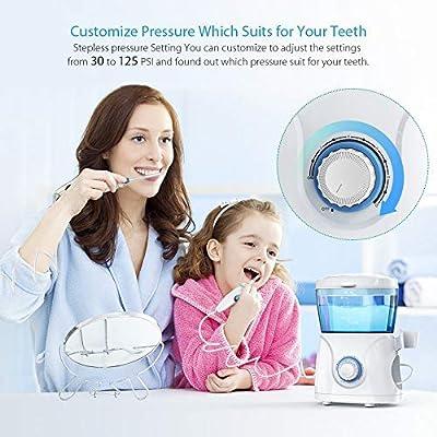 Oral Irrigator,Dental Water Flosser,Anti Leakage Water Pick Teeth Cleaner Dental Water Toothpick 10 Adjustable Pressure with 7 Multifunctional Tips