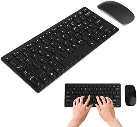 Wireless 2.4GHz Mini Keyboard Ultra-Thin Mouse Combo Set For Desktops Laptops GOLDEN2STAR