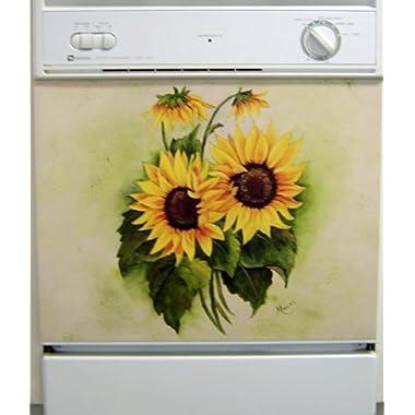Sunflowers Dishwasher Art Painted Magnetic Dishwasher Cover DA - 11258