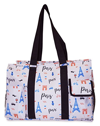 Ever Moda Grey Geometric Open Home Storage and Utility Tote