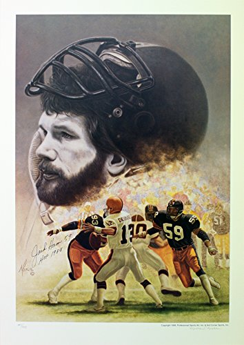 Autographed Limited Edition Lithograph - Pittsburgh Steelers Jack Ham,