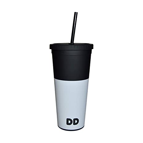 4bd9cc4531a Amazon.com: Dunkin' Donuts 24oz Colored Acrylic Tumbler with Straw (Slate,  Ons Size): Kitchen & Dining