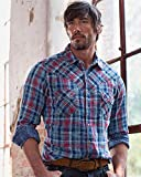 Ryan Michael Men's Indigo Double Face Plaid Indigo XX-Large