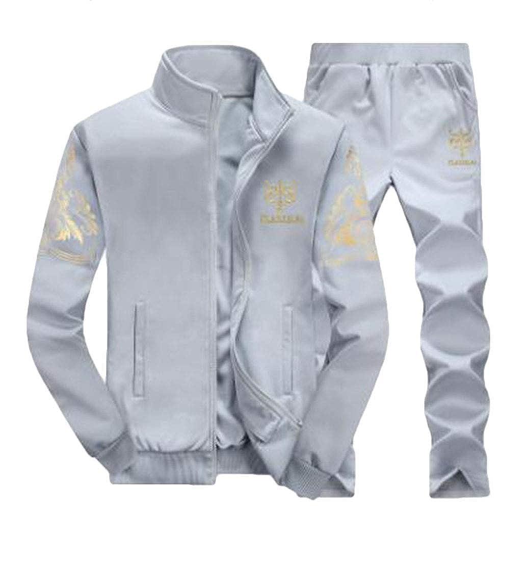 SELX Men Athletic Tracksuit Full Zip Warm Jogging Sweat Suits