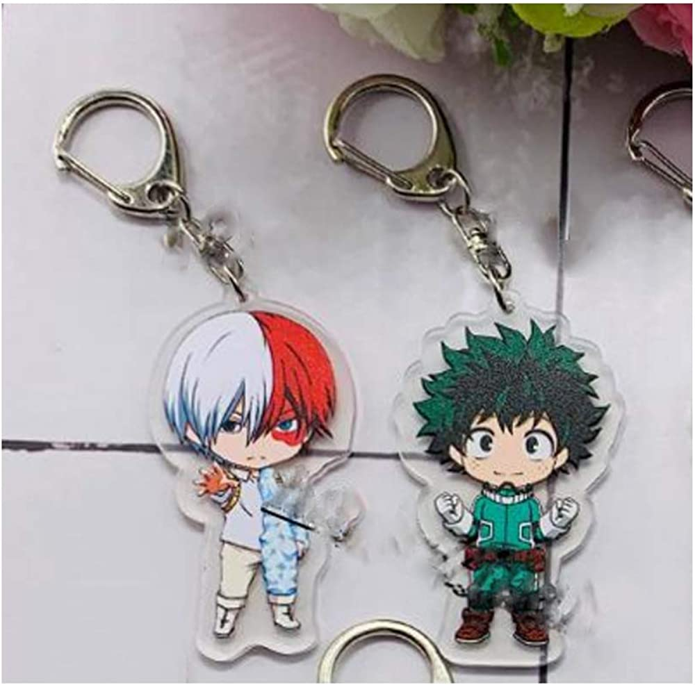 1Pcs Necklace Lanyard My Hero Academia Bag Gift Sets for Fans 4Pcs Pins 1Pcs Double-Sided Printed Pillow Case 2Pcs Keychains Including 1Pack Drawstring Bag 1Pcs Cute Sticker for Fans