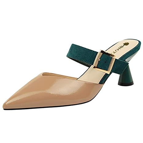 2bb8b5b110ec5 Amazon.com: Copercn Women's Ladies Fashion Contrast Color Patent ...