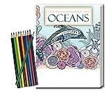 Kyпить OCEANS - Adult Coloring Book and Pencils Set - Stress Relieving Ocean Designs на Amazon.com
