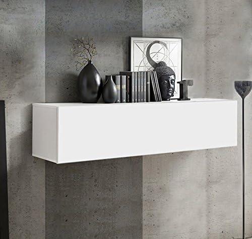 muebles bonitos Mobile pensile Modello Krista H-120 120x30cm Bianco