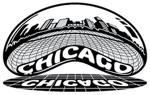 [해외]시카고 스카이 라인 스티커-시카고 빈 (클라우드 게이트)에서 볼 수 있듯이 크롬 미러 빛나는 스카이 라인 스티커. 거울 스티커 처럼 반사-전천후 방수 / The Chicago Skyline Sticker - A Chrome Mirror Shiny Skyline Sticker as seen from The Ch...
