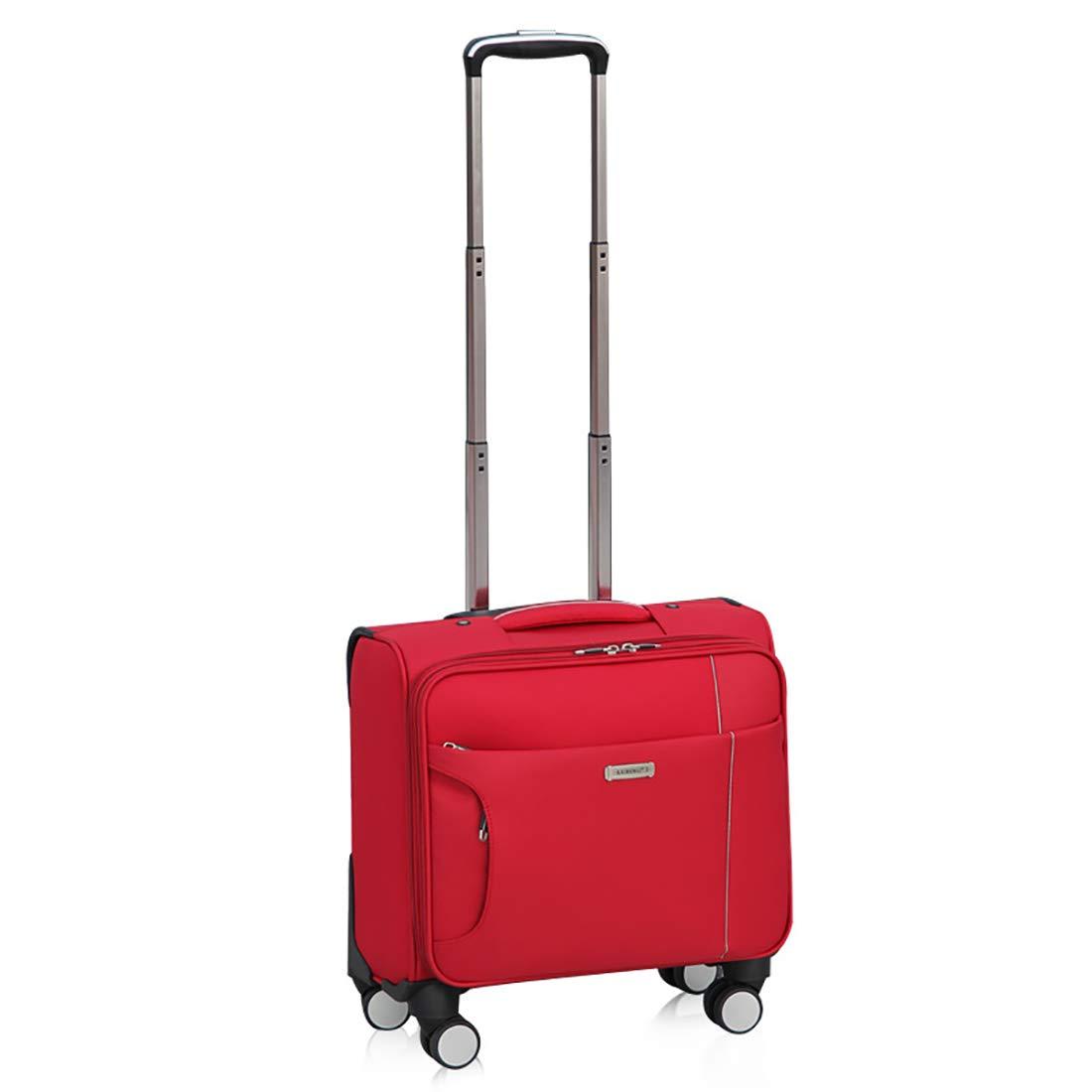 スタイリッシュな荷物、超軽量ビジネスシャーシに乗る、ユニバーサルホイールミニスーツケース (色 : 赤)   B07GRRMFZ2