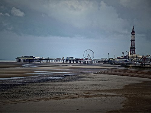 LAMINATED POSTER Blackpool Central Pier And Tower Landscape Poster Print 24x (Pier Tower)