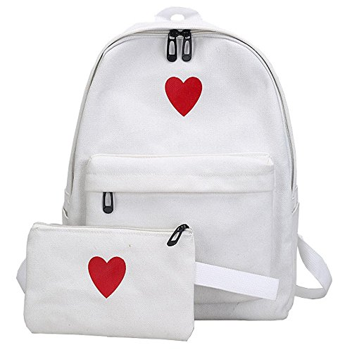 Large White Bag Daughter Package Bag Campus Capacity Girl Package EUzeo Canvas Travel 1UPq00