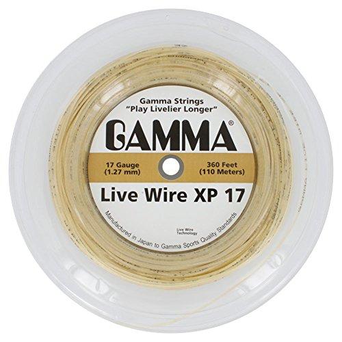 Natural 360' String Reel - Gamma Live Wire XP Tennis String - 360ft Reel (17 Gauge)