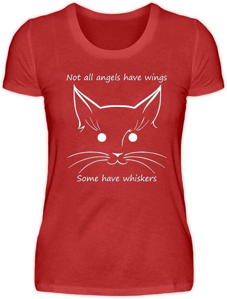 Camiseta para Mujer con diseño de Gatos y ángeles de Not All Angels Have Wings, Some Have Whiskers Rojo XXXL: Amazon.es: Ropa y accesorios
