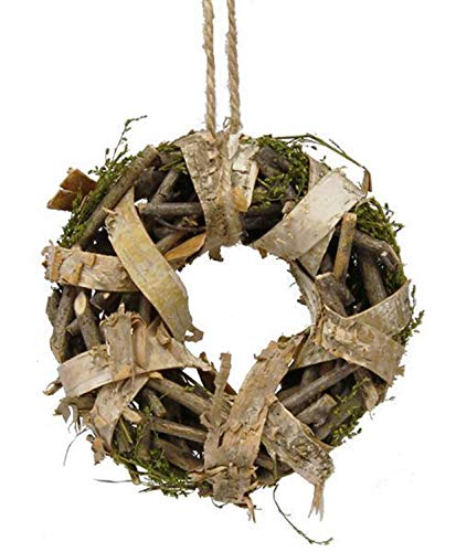 Sweet Annie Natural Brown and Green 11 inch Birch Twig Wood Harvest Wreath