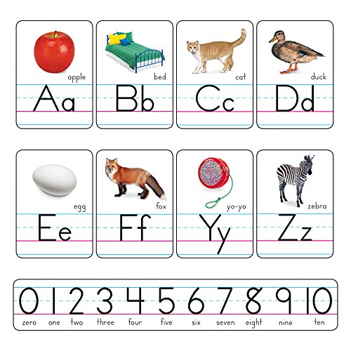 TEPT721 - Trend Manuscript Photo Alphabet Bulletin Board Set ()