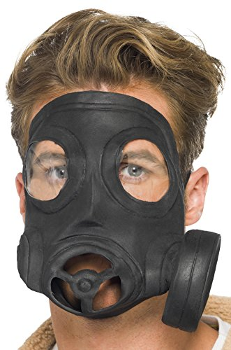 [Smiffy's Men's Gas Mask, Black, One Size] (Halloween Costumes With Gas Mask)
