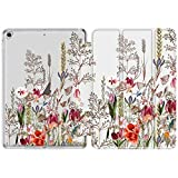 DEENAKIN iPad 9.7 Case 2018 2017,iPad 5th 6th Generation Case,Ultra Slim Fit Lightweight Stand Cover for Girls Women with Soft TPU Protective Back Case for iPad 9.7 inch Auto Sleep Wake Leaves Flower
