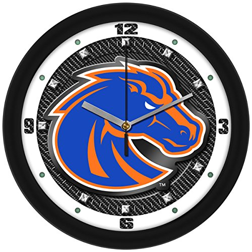 SunTime NCAA Boise State Broncos Textured Carbon Fiber Wall Clock