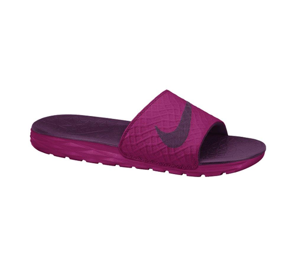 NIKE Women's Benassi Solarsoft Slide Sandal B00PZBSYJ8 5 B(M) US|Sport Fuchsia/Mulberry