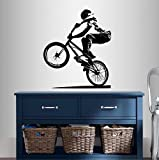 best bmx wall decal Wall Vinyl Decal Home Decor Art Sticker BMX Cyclist Jump Bicycle Extreme Sports Bike Rider Guy Boy Room Removable Stylish Mural Unique Design
