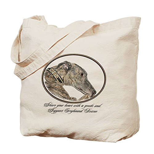 Medium Dry Sherry (CafePress - Greyhound - Natural Canvas Tote Bag, Cloth Shopping Bag)