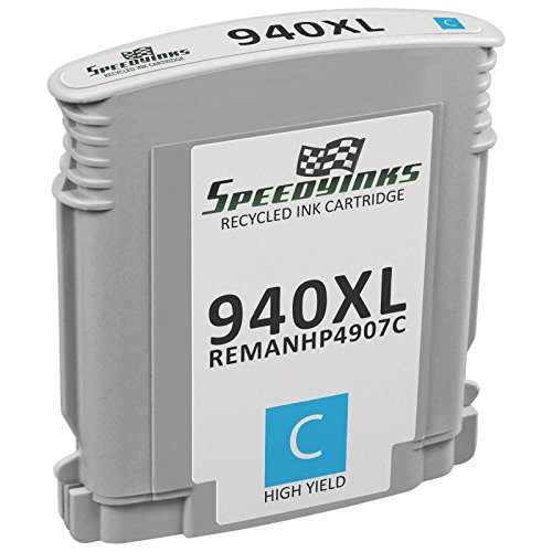 Speedy Inks - Remanufactured Replacement for HP 940XL C4907AN High-Yield Cyan Ink Cartridge for use in OfficeJet Pro 8000, Pro 8500, Pro 8500 Wireless, Pro 8500a, 8500a Plus, 8500 Premium